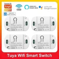 Tuya     interrupteur Wifi intelligent  minuterie  10a  domotique  Compatible avec Alexa Google Assistant IFTTT