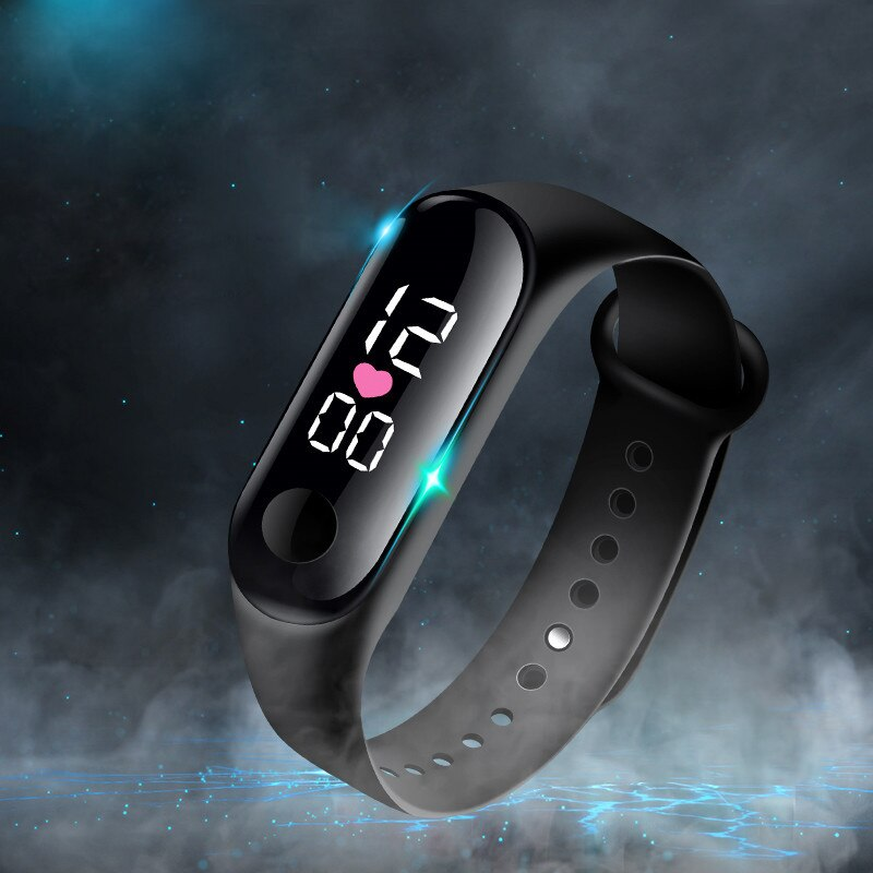 2020 chico reloj colorido correa de silicona niño reloj para Chica adolescente reloj pulsera niños los niños a prueba de agua Led Digital reloj