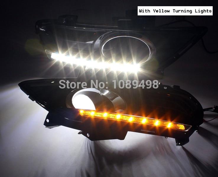 1 juego de luces LED antiniebla DRL luces de circulación diurna con luces de señal de giro para Ford Mondeo Fusion 2013 nuevo