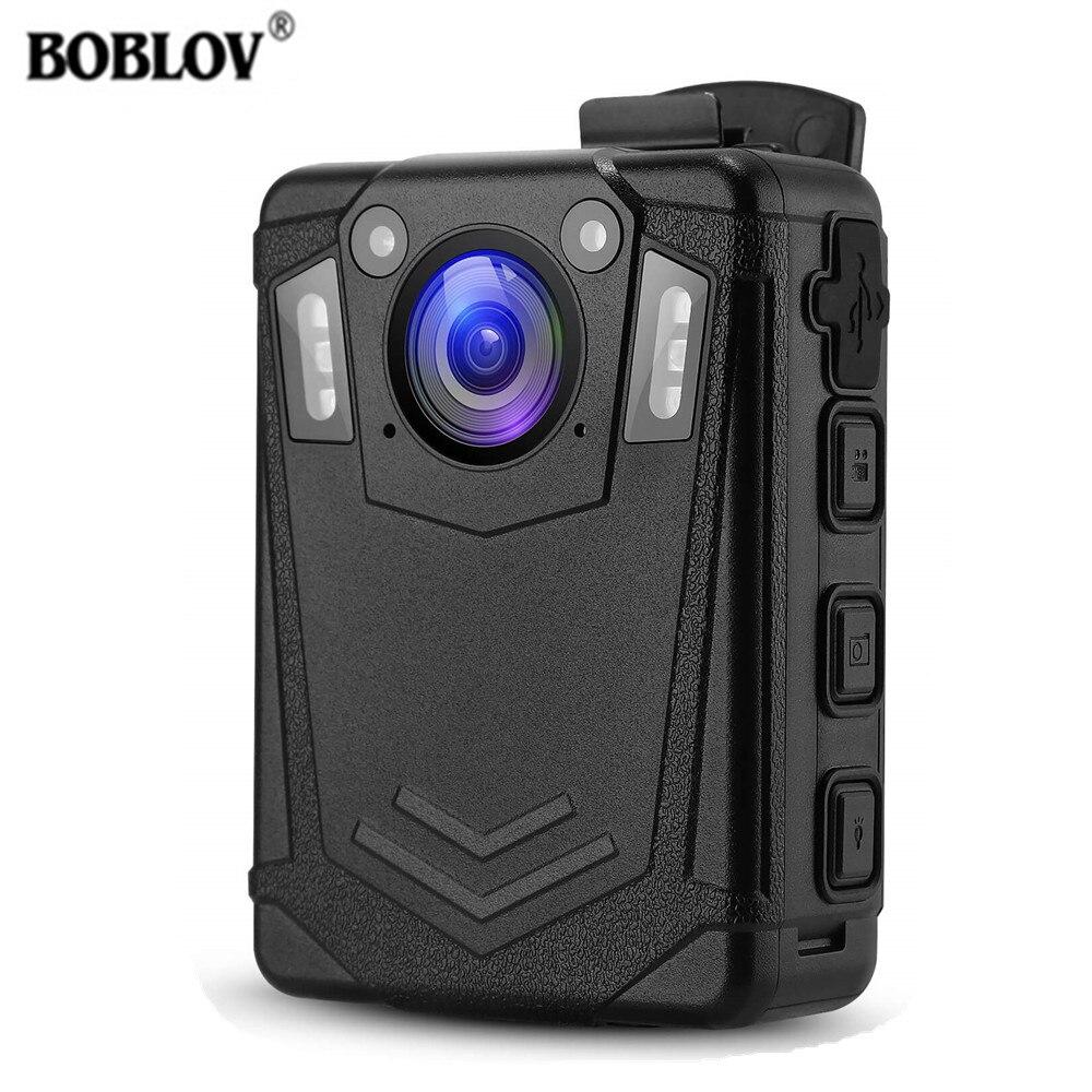 BOBLOV-Cámara de policía portátil DMT204 HD 1080P IP65, minicámara policial de seguridad...