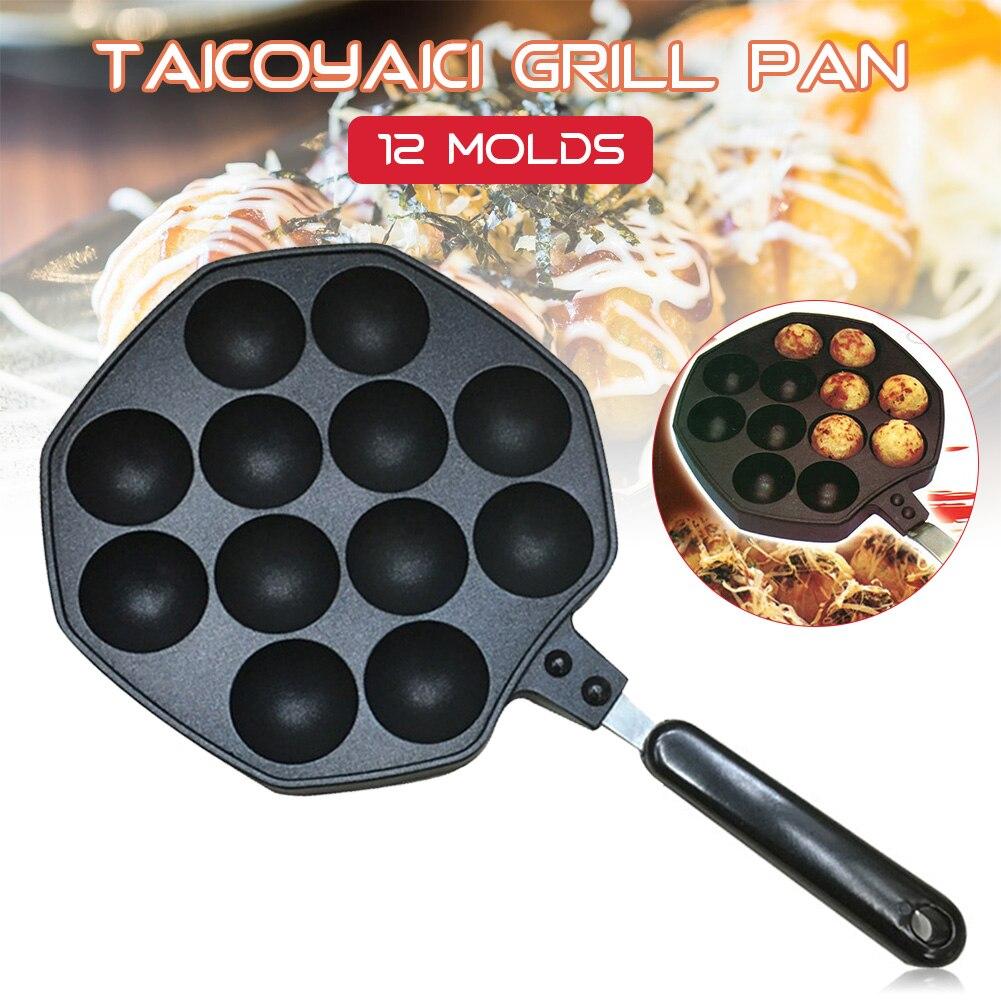 الأخطبوط كرات شواء عموم موقد أعلى واحد-قطعة صب غير عصا عموم الخبز صانع 12-ثقوب المطبخ أدوات الطبخ DIY