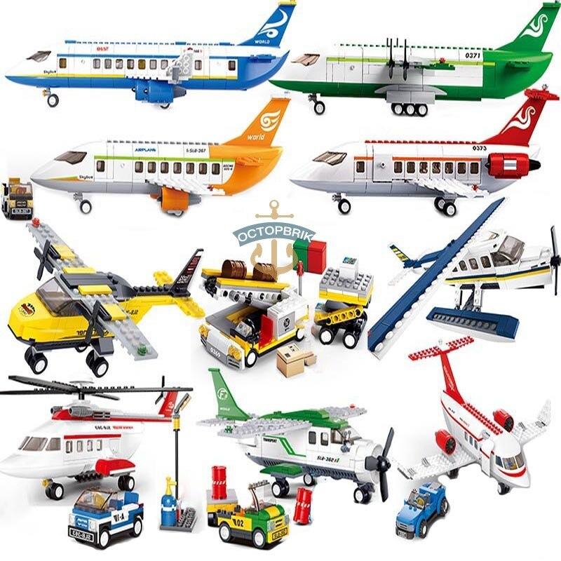 City boeingslly International Airplane 747 sets friends Airport station kits helicóptero figura edificio bloques niños juguetes ladrillo