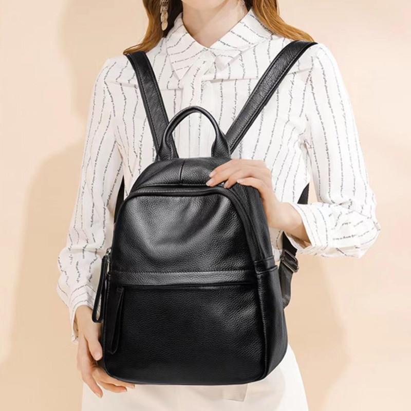 CHSANATO-حقيبة ظهر من جلد البقر للنساء ، حقيبة مدرسية للمراهقين ، حقيبة سفر ، حقيبة كتف ، جودة جيدة ، عصرية ، 2021