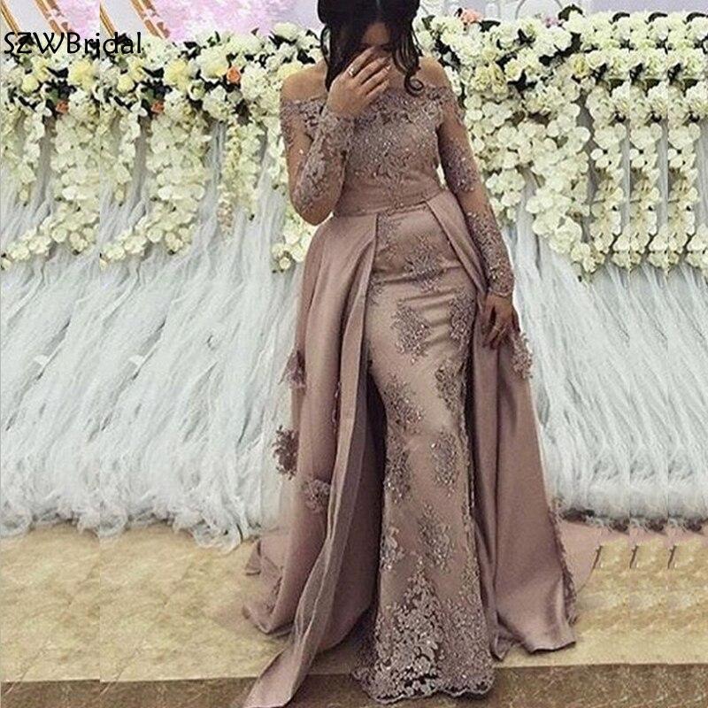 Nueva llegada árabe de manga larga para hombres vestidos de noche vestido de graduación 2020 Dubai vestidos de noche largos siempre bonitos vestidos de noche