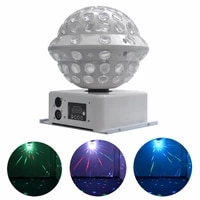360 moving head beam rgb dmx led magic crystal ball laser lamp light disco home dj party show projector stage effect lights