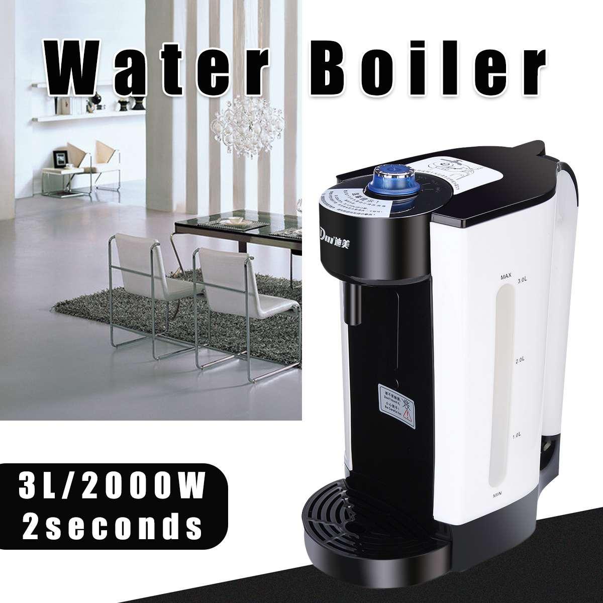 Hervidor de agua eléctrico instantáneo 220V 3L, Caldera de calentamiento Automática, máquina de té y café, dispensador de agua hirviendo, herramienta de calefacción portátil