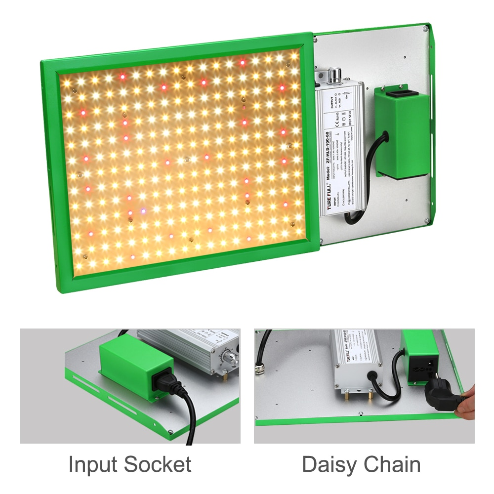 CXST 600W Led Grow Light Samsung LM281B+ High PPFD Phyto lamp for plants Combination Design with Daisy Chain Function Waterproof enlarge