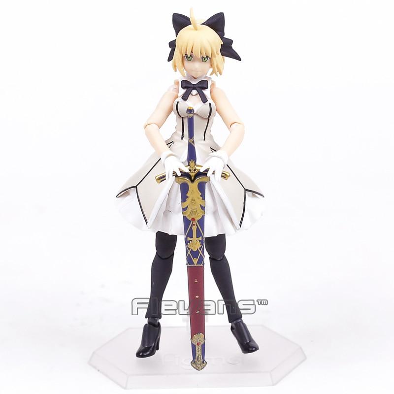 Destino Grande Ordem Figma EX-038 Altria Pendragon Saber Lily PVC Action Figure Collectible Modelo Toy