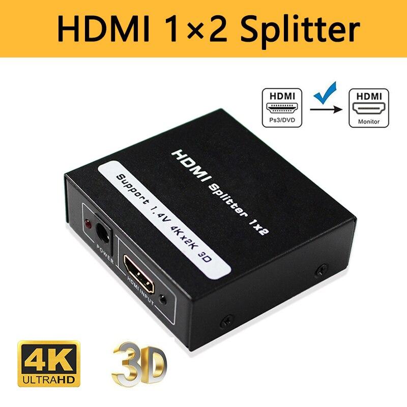 HDMI сплиттер 1 вход 2 выхода 1080P конвейер коробка 1 HDMI Сплит устройство 2 дисплеера в HDMI монитор адаптер для PS3 PS4 ноутбука ПК