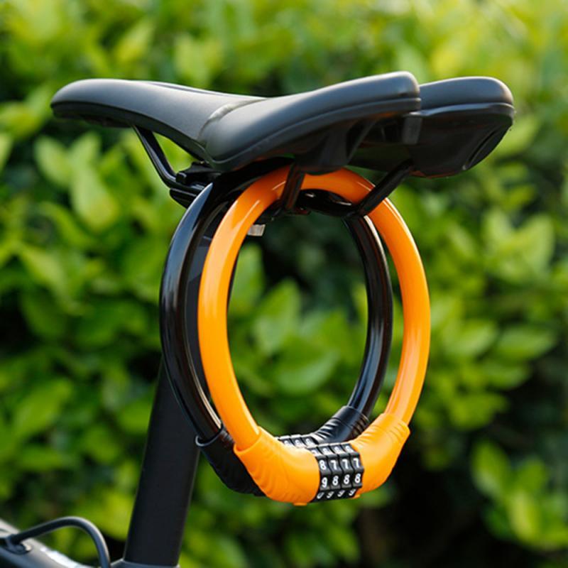 Bloques de cadenas de bicicleta y Cable antirrobo, bloqueo de Cable de...