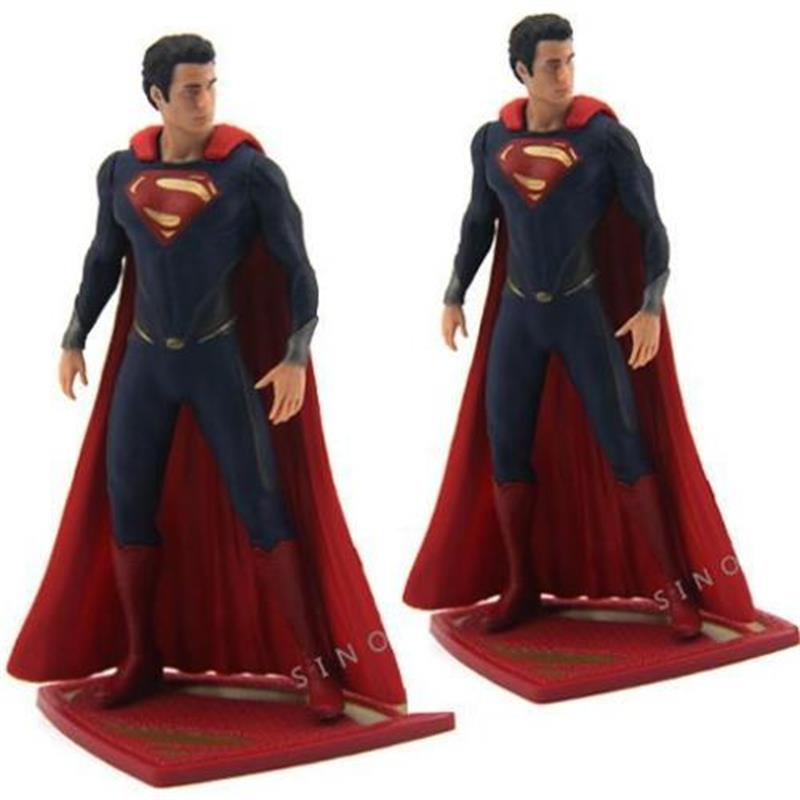 New LOT 2pcs DC UNIVERSE DC COMICS 2013 SUPERMAN Super Man Figure Collectible Model Kids Toy for Gifts