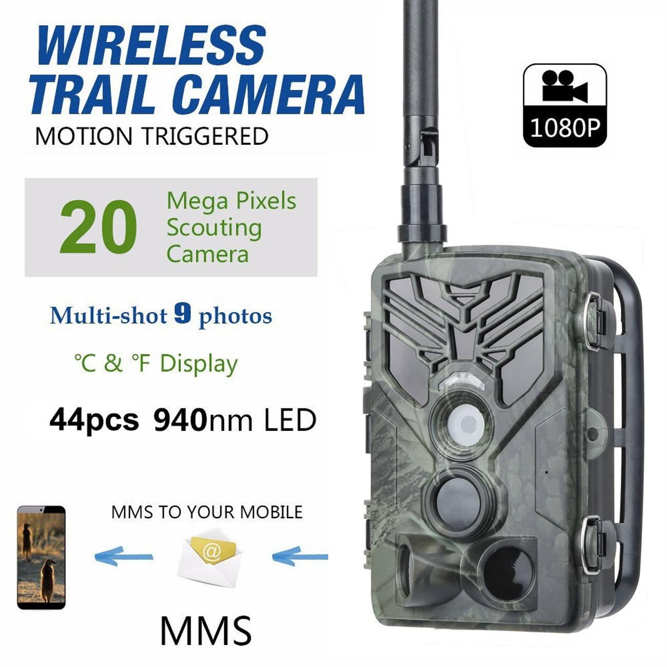 HC-810M 2G الصيد تريل كاميرا 16MP 1080P MMS/SMTP/SMS الحياة البرية كاميرا 0.3sTrigger الصورة الفخاخ للرؤية الليلية هنتر الحياة البرية