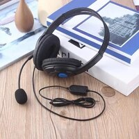 wired bilateral gaming headphone with telescopic microphone for sonyps4