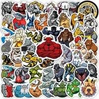 103050 pcs cartoon fitness muscle macho animal graffiti stickers suitcase mobile phone laptop motorcycle helmet stickers