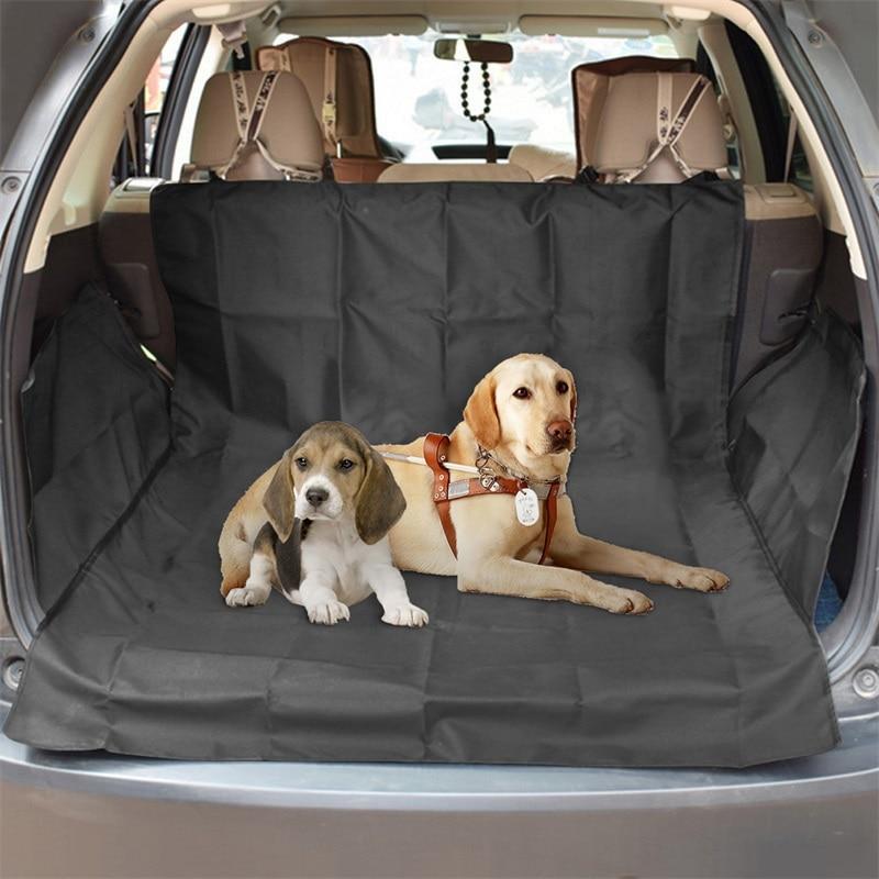 Cubierta de asiento de coche alfombra de Perro para coche impermeable para mascotas Perro trasera coches alfombrilla para asiento trasero hamaca Protector cojín Transportin Perro Oxford