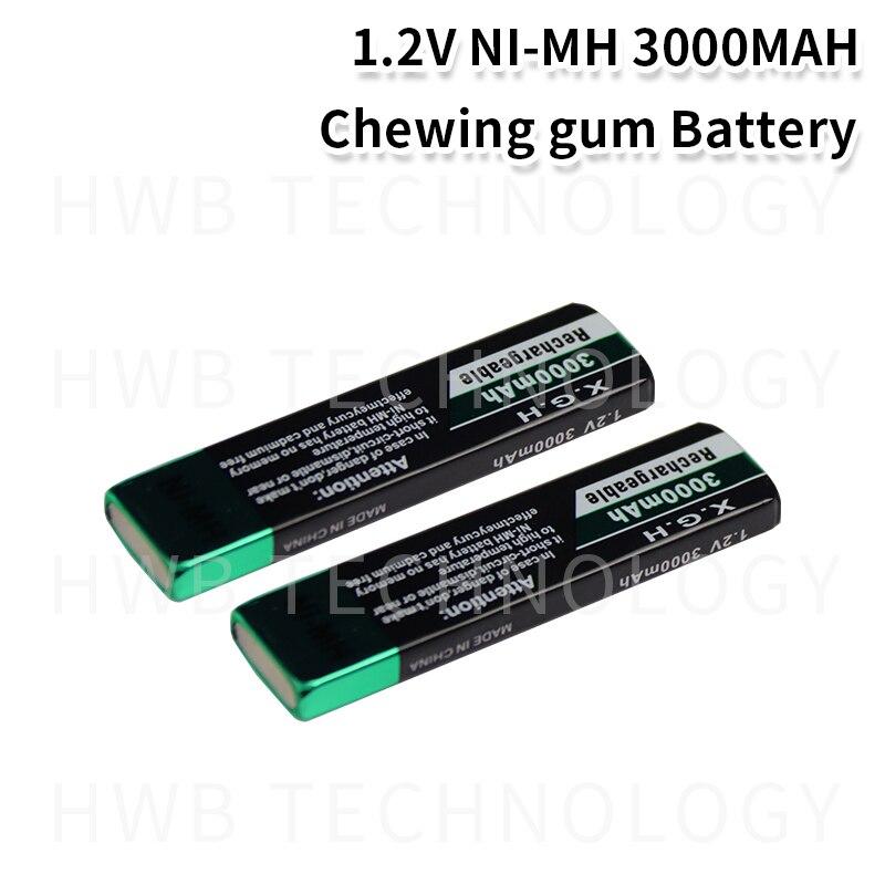 2 teile/los Hohe qualität Original für SoFirn 3000mah kaugummi batterie Walkman Ni-Mh 1,2 V nimh Freies Verschiffen