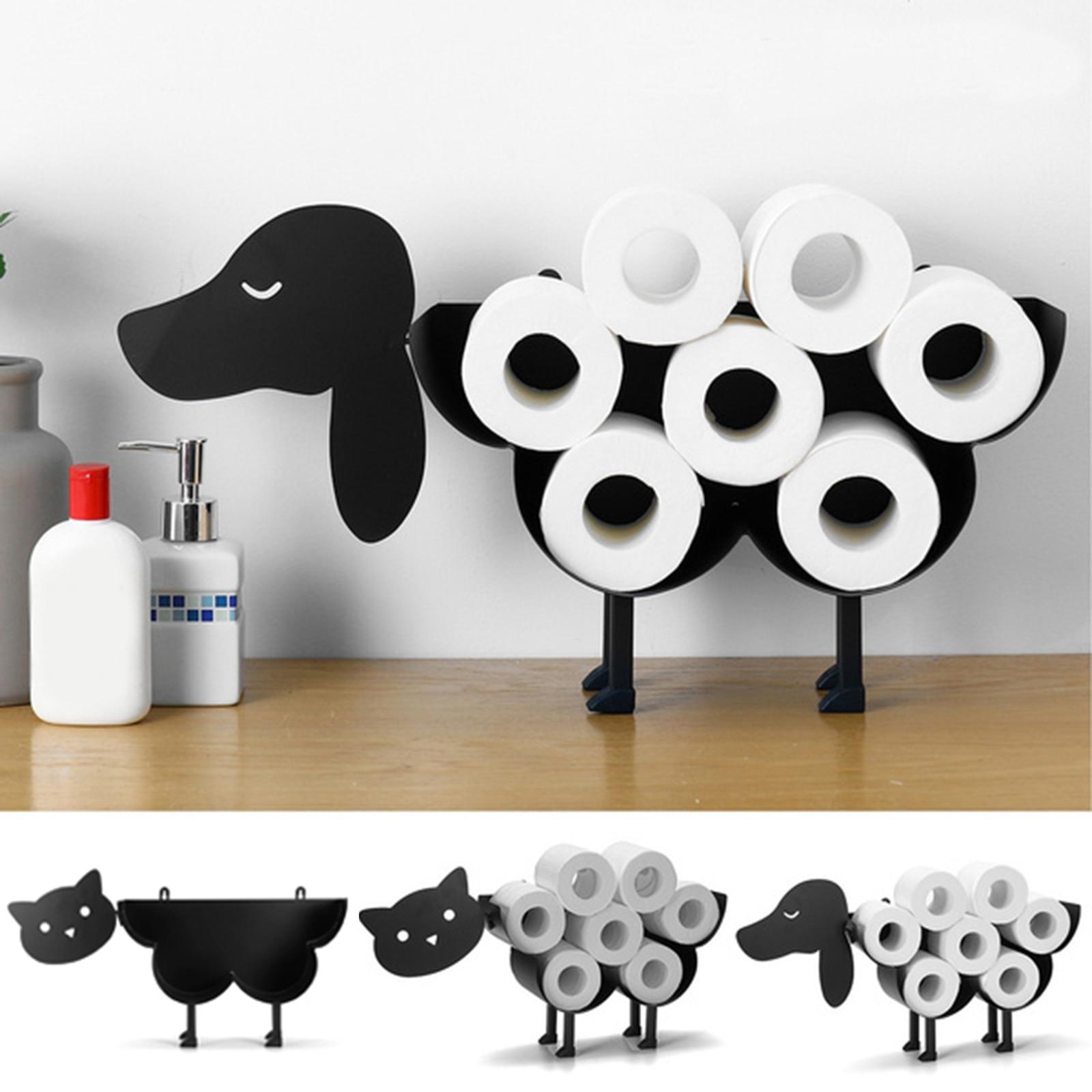 Toilet Paper Roll Holder Bathroom Kitchen Accessories Tissue Storage Stand Rack Cast Iron Roll Stora
