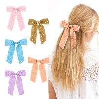 big bow ribbon hair clips sweet pearls women girls hairpin hair barrettes korean 2021 fashion hair accessories headwear