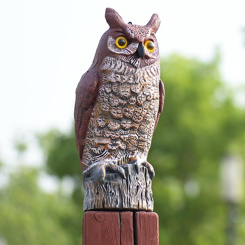 ZILIN, Gran pájaro de cuernos, señuelo para asustar, repelente de aves, 17*15*41 cm