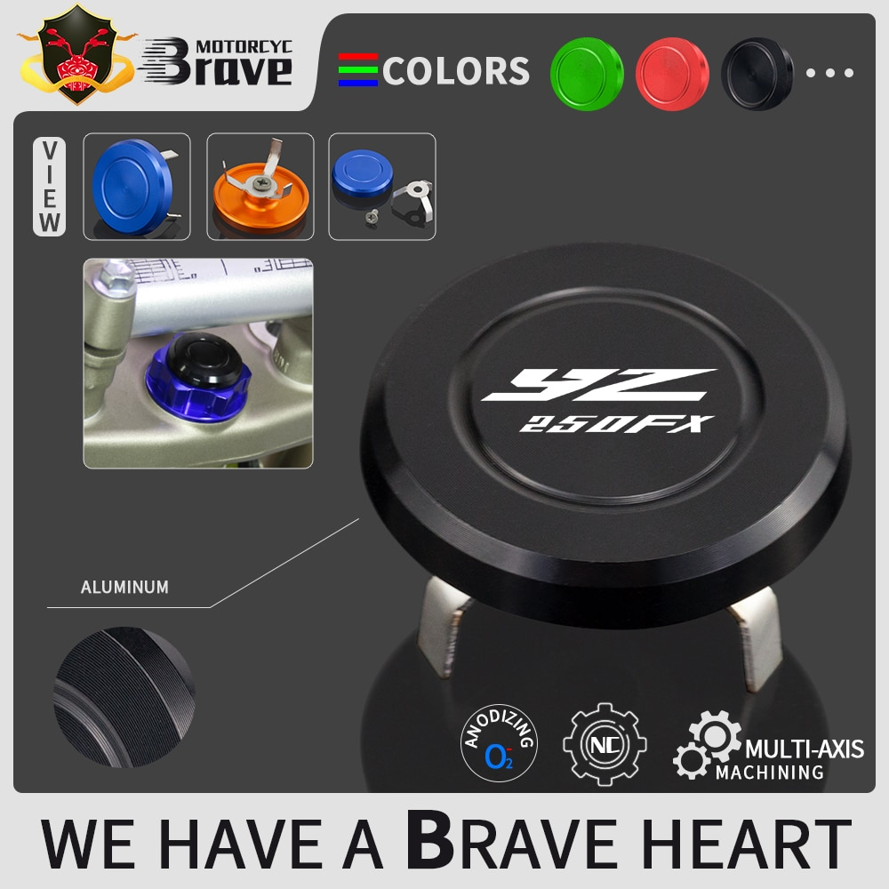 motorcycle clutch cover protector cover fit for yz 450f yz450f 2014 2016 wr 450f wr450f 2016 For YAMAHA YZ 250FX 450FX WR 250F 450F Handlebar Decorative Screw Cap Handle Bar Grips Cover Caps YZ250 YZ450 FX WR250 WR450