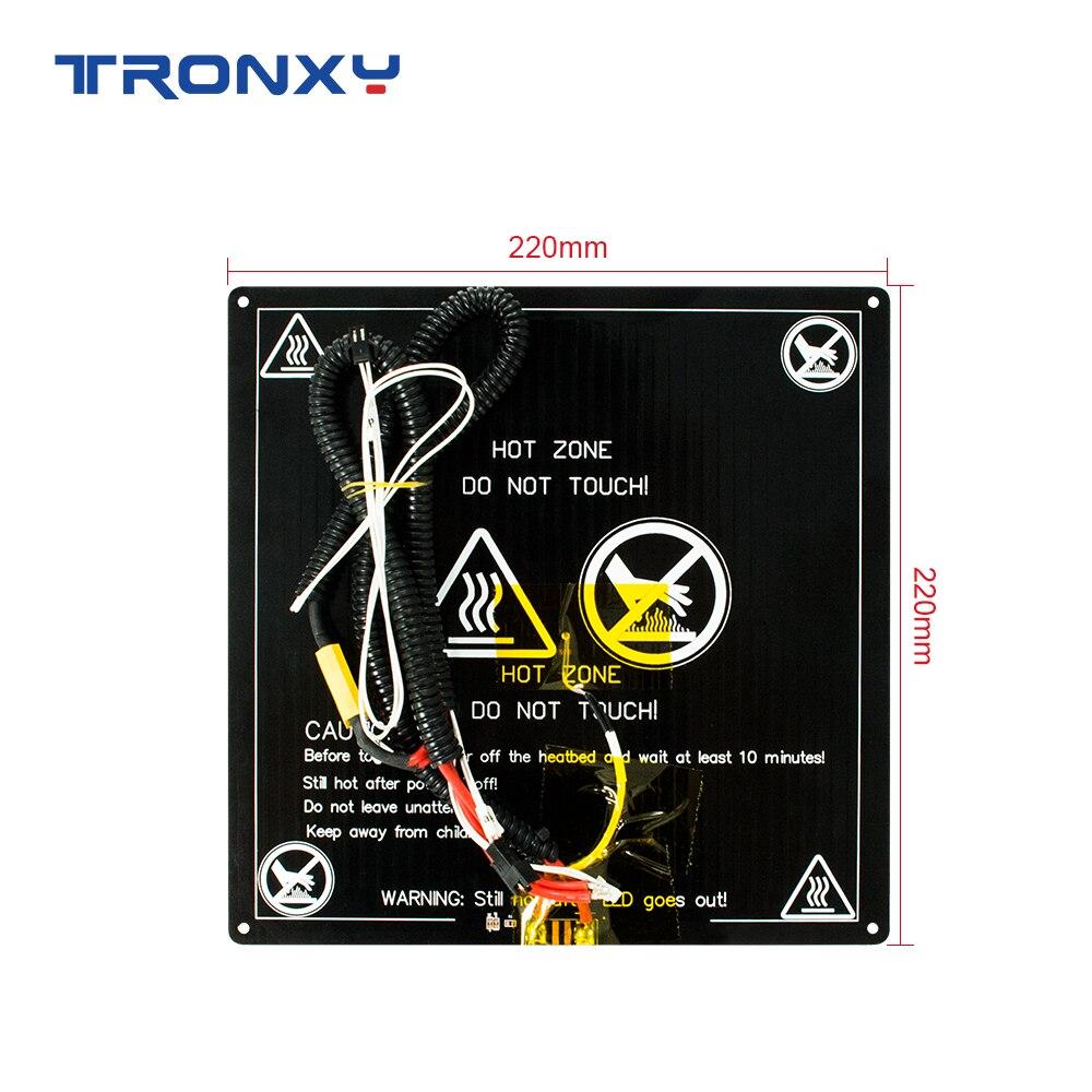 Запчасти для 3D-принтера Tronxy 12/24В, набор для самостоятельной сборки, 220*220 мм/255*255 мм/330*330 мм, стандартная алюминиевая пластина, Hotbed