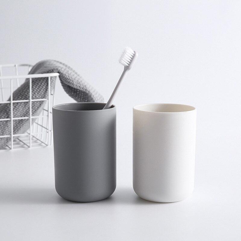 1 unidad creativa, portátil, estilo japonés, taza de cepillo de dientes para baño, taza Simple, taza de tres colores para dos dientes