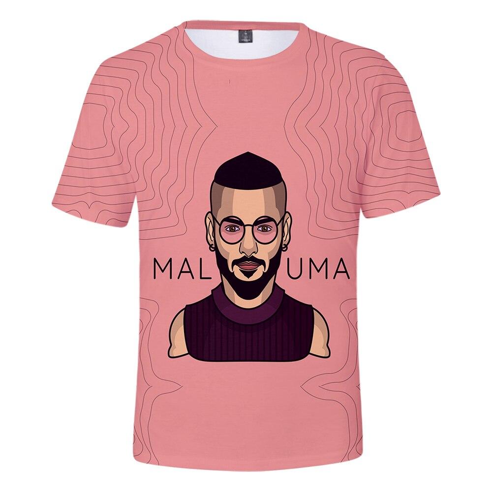 Popular Adequado Maluma Camisa Das Mulheres Dos Homens T shirt das meninas dos meninos de Verão Bonito Confortável 3D Tee 3D T-shirt Moda Casual t camisas