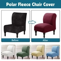 polar fleece armless chair cover hotel seat sofa slipcover modern accent chair covers stretch home couch furniture protector