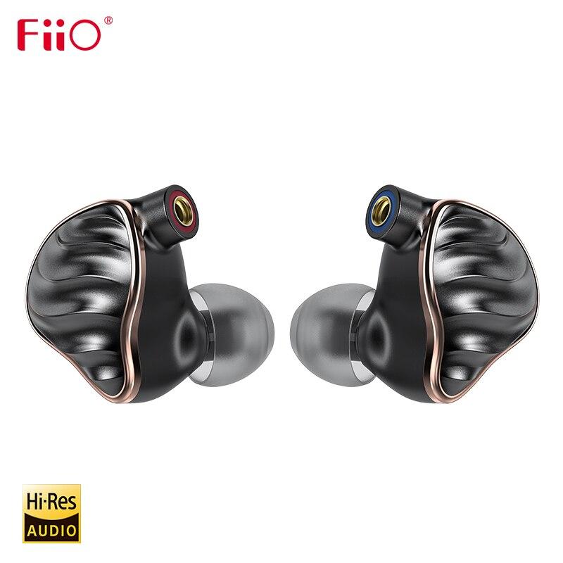FIIO FH7 5 conductor híbrido 4 Knowles BA + dinámico de 13,6mm de Audio de alta fidelidad Hi-Res en la oreja los auriculares Monitor IEM con MMCX Cable desmontable