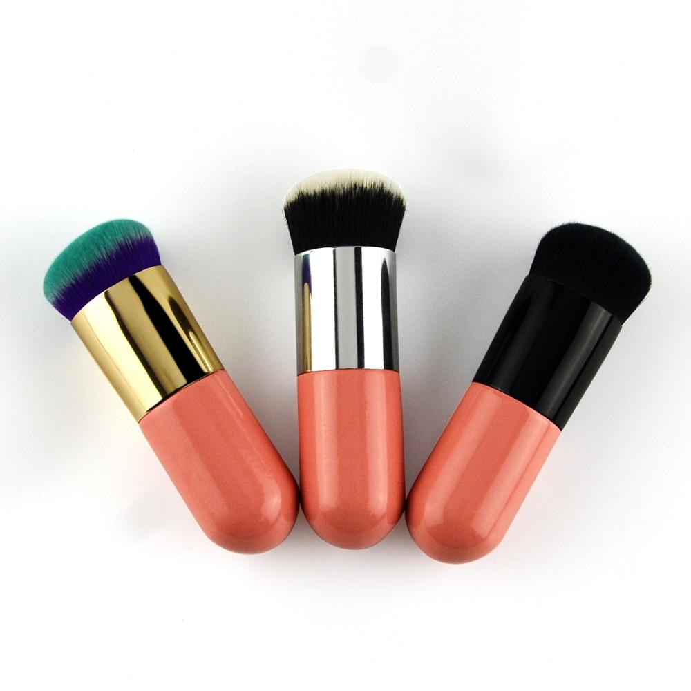 Maquillaje de 30 segundos, brocha para base de Grasa pequeña, brocha para crema BB, brocha de maquillaje portátil, cabezal redondo, sin polvo, fácil de usar