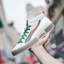 Best Selling Athletic Sneakers For Men Brand Platform Skate Shoes Men High Top Skateboard Shoes Mens Wearable Men Sport Shoes
