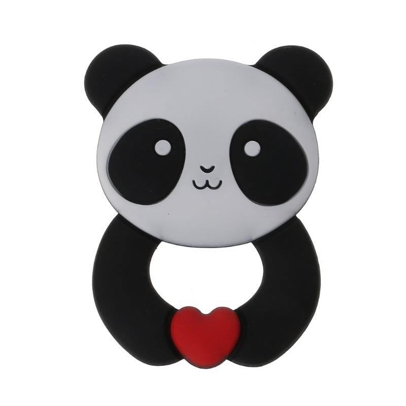 Детские Жевательные кольца Panda, силиконовые жевательные игрушки, не содержащие бисфенола А, C5AF