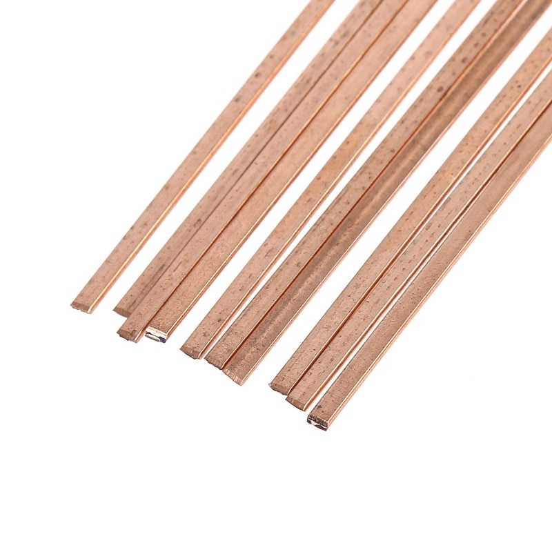 10 Uds. Varillas de soldadura planas de baja temperatura para reparación de soldadura de brazo 3x1.3x400mm