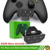 for xbox one wireless gamepad controller sound enhancer stereo headset adapter headphone speakers low latency voice control