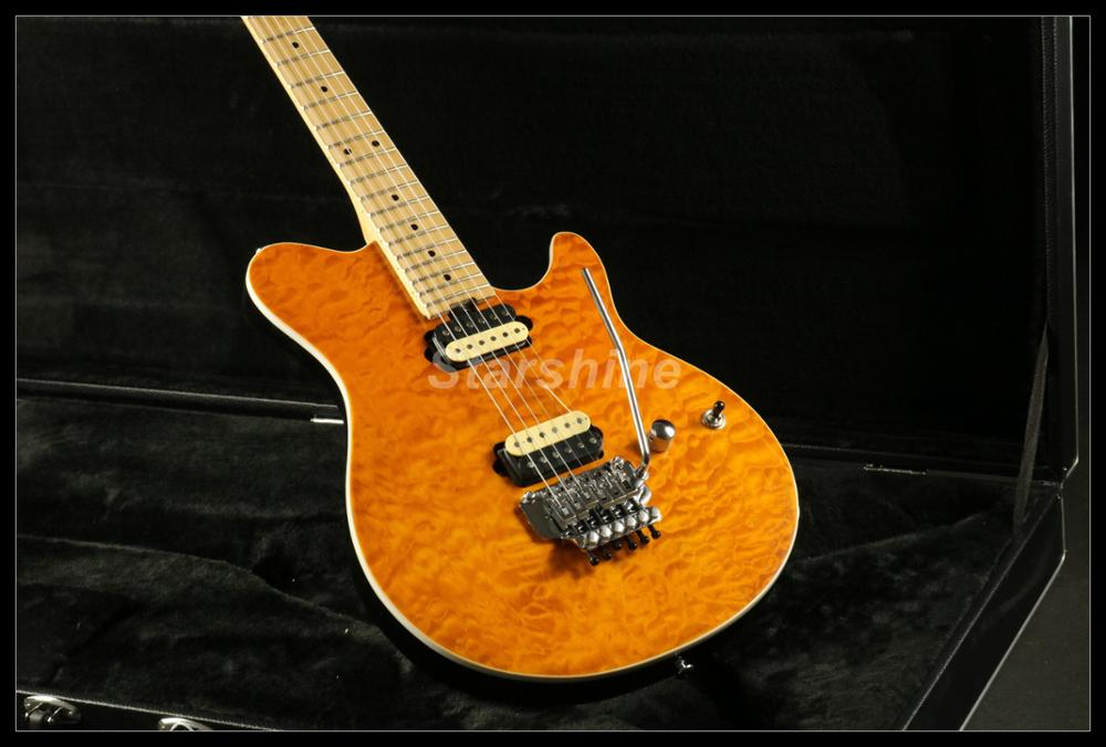 Ernie Ball Music man guitarra eléctrica eje AAAAA grado tapa de arce acolchado puente de floyd rose