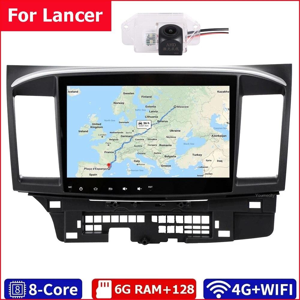 Youmecity-مشغل DVD متعدد الوسائط للسيارة MITSUBISHI LANCER 10.0-2007 ، راديو السيارة ، Android 2018 ، 9x10.1 بوصة ، 2DIN ، 3G/4G ، GPS ، ستيريو ، فيديو