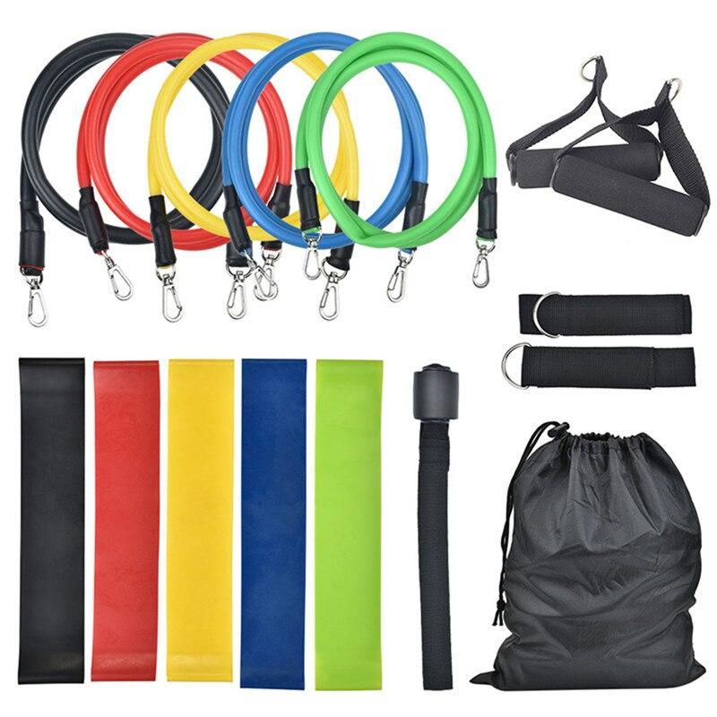 5/8/11/16 bandas de resistencia para Pc, conjunto de bandas de ejercicios, banda elástica de estiramiento de bucle Durarle, banda elástica de entrenamiento para Fitness, banda elástica para tirar de la cuerda