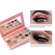 FOCALLURE Makeup 18 Color Nude Eyeshadow Makeup Pigments Waterproof Matte Glitter Nude Eye Shadow Make Up Palette 40P