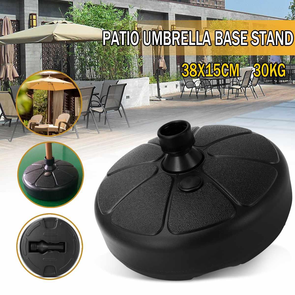 Sombrilla exterior duradera portátil, sombrilla de jardín, Base de soporte, Patio redondo, playa, jardín sombrilla de patio, accesorio de refugio solar