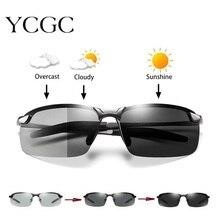 Photochromic Sunglasses Men Polarized Driving Chameleon Glasses Male Change Color Sun Glasses Day Ni