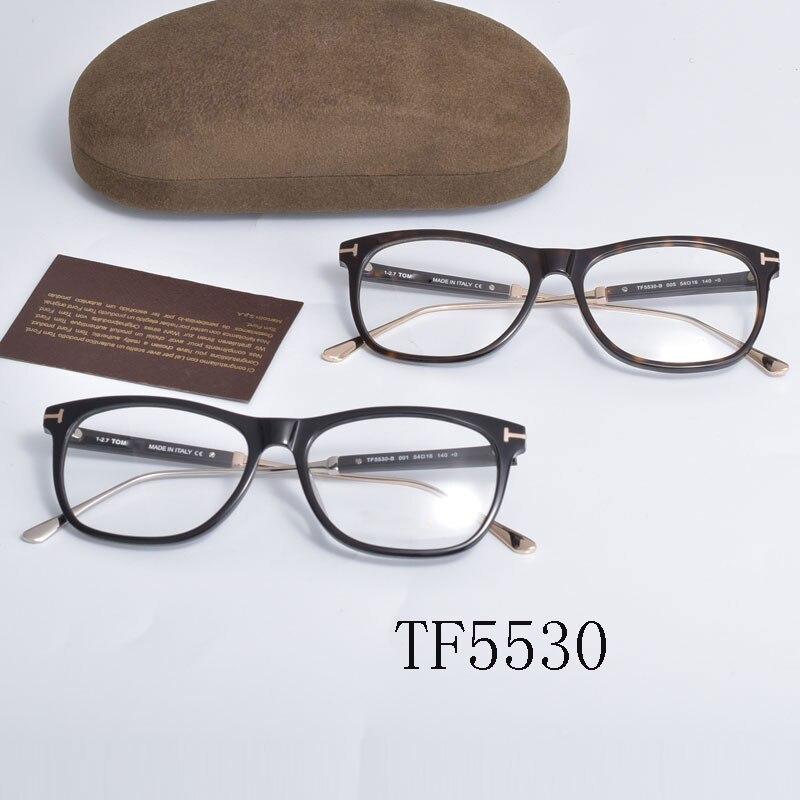 توم ل إطارات نظارات بصر Forde موضة خلات النساء الرجال القراءة قصر النظر وصفة طبية TF5530 النظارات مع حافظة