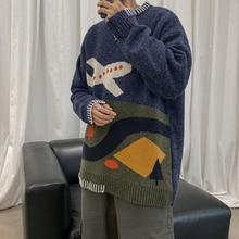 Pull dhiver hommes mode rétro décontracté tricot pull hommes Sweter vêtements sauvage à manches longues col rond pull homme M-2XL