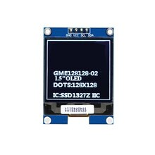 1.5 Inch OLED Screen IIC I2C Interface SSD1327 Display Module 128X128 Resolution 3.3V/5V For Arduino For Raspberry Pi For STM32