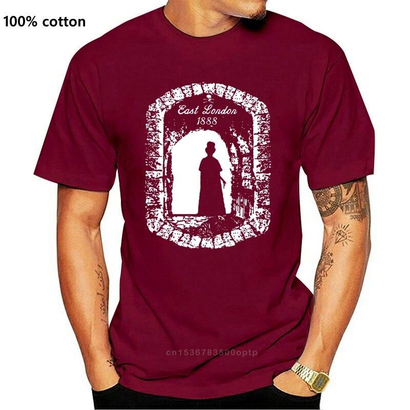 Camisa de t camisa jack o estripador t camisa londres horror brilhando vintage t camisas goth culto filme t o-pescoço tshirt homme