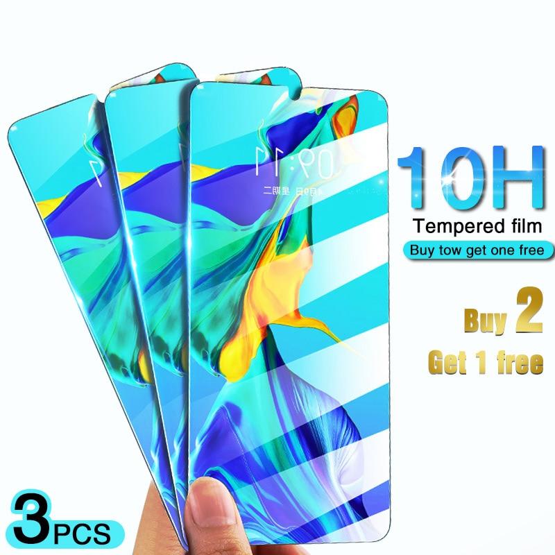3 piezas 10H vidrio templado para Huawei P20 P30 Lite Pro Protector de pantalla para Honor 10 9 Lite P20 película protectora de vidrio inteligente Lite P
