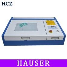 Freies Verschiffen 50W CO2 Laser Gravur und Schneiden Maschine 4040 Laser Gravur und Schneiden Maschine Linear Guide