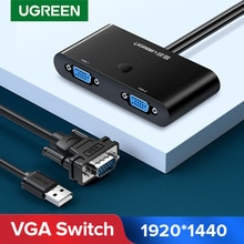 Ugreen VGA commutateur 2 en 1 sortie convertisseur 1920*1440 commutateur VGA pour projecteur moniteur SmartBox VGA câble mâle à femelle commutateur VGA