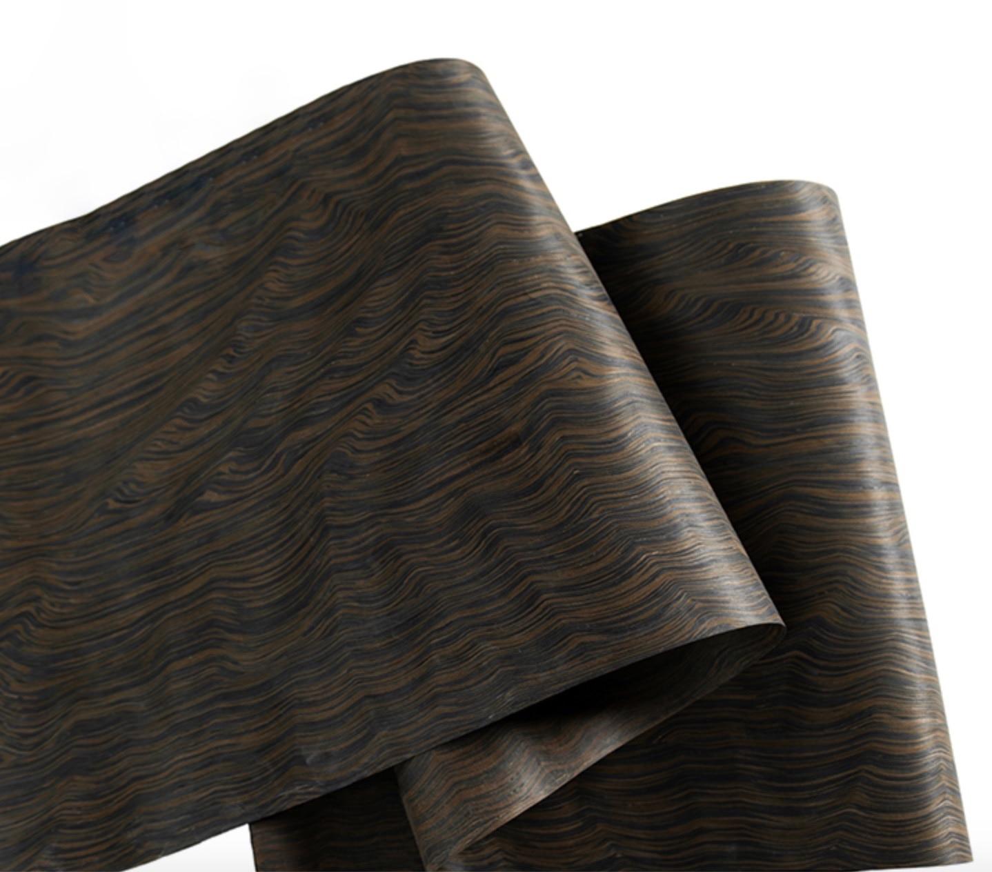 L:2.5 متر عرض: 60 سنتيمتر سمك: 0.2 مللي متر تكنولوجيا خشب الأبنوس جذر اللحاء (ظهر قماش غير منسوج)