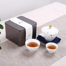 Céramique porcelaine photos voyage service à thé un Pot de deux tasses théière Kung Fu service à thé étui de transport