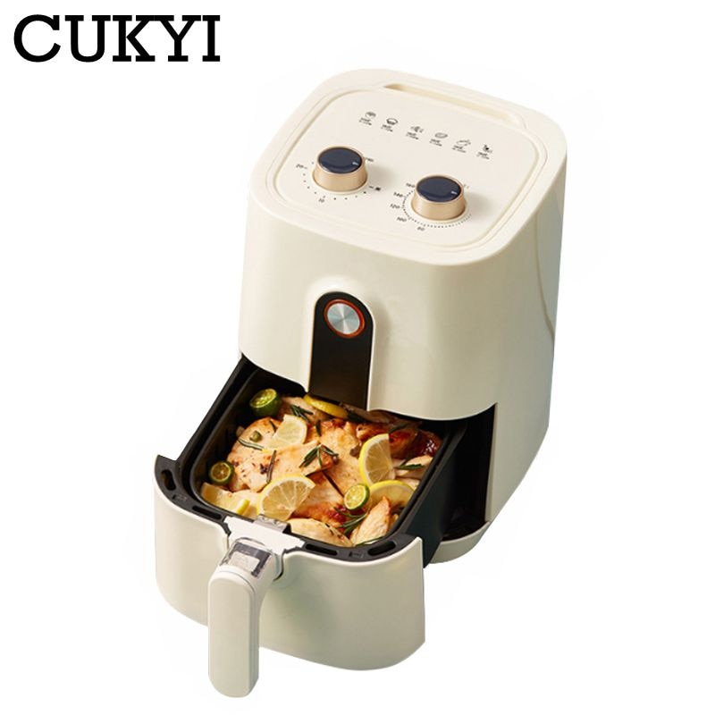 CUKYI-مقلاة كهربائية منزلية ، سعة كبيرة ، خالية من الزيت ، 220 فولت ، 1400 واط ، فرن كهربائي غير لاصق ، متعدد الوظائف